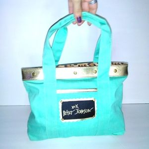 Betsey Johnson Small Teal Tote Purse